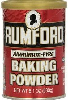 Aluminum Free Baking Powder from Rumford