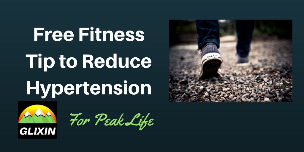 Glixin provides free fitness tip for reducing hypertension